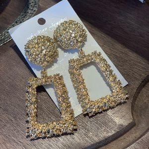 Jewelry - Vintage Statement Geometric Dangle Drop Earrings